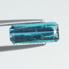 T029 / 3.00 cts. 100% Natural Unheated Neon Blue Tourmaline WOW!! Very Rare!!