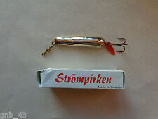 Vintage Nos Strompirken Silver Finish Fishing Lure Made Sweden Original Box