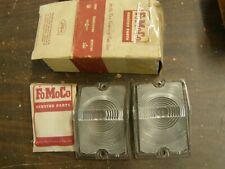 NOS OEM Ford 1961 Falcon Grille Park Light Lamp Lenses Pair