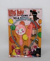 """Whimsical Vintage 1974 """"LITTLE LULU GOES TO A PARTY ~ DRESS UP JEWELRY SET"""" SIOP"""