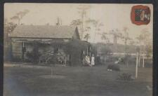 REAL PHOTO Postcard LUTZ-TAMPA Florida/FL Local Area Lodge & Family view 1915