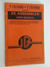 T/S1500-1000 ZX Assembler User Manual