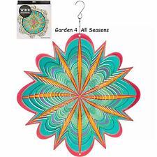 """12""""/30cm STARBURST Stainless Steel Wind Spinner Sun Catcher Hook Garden Gift Pk"""