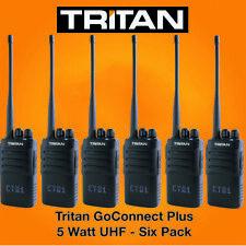 TRITAN Goconnect-Plus Uhf 5 Watt Talkie-Walkie Radios Et Écouteurs X 6
