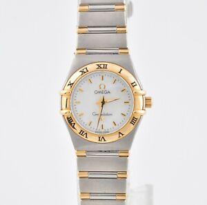Omega Constellation 18K Gold SS MOP Dial Ladies Quartz Watch - 6553/865