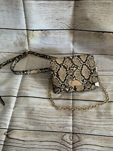 Women's Snake Print Fanny Pack Purse with Chain – A New Day – Target #1