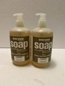 EVERYONE FOR EVERYBODY SOAP SHAMPOO BODY WASH UNSCENTED Lot Of 2 16 Fl Oz