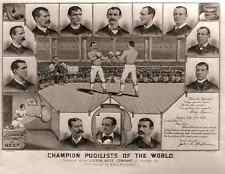 122 Champion pugilists of the world 1885 vintage Photo Print A4