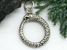 Schlange Anhänger 925 Echt Silber Schlangen Amulett
