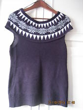 APRICOT Purple Knitted Top Size S (Fit UK8-10)  (#037)