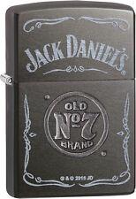 Zippo Jack Daniel's Daniels Stamped / Laser Old No. 7 Gray Dusk 29150 NEW