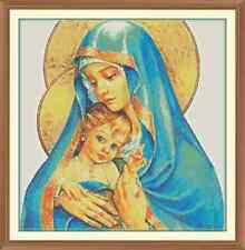 Maria e bambin Gesù cross stitch chart 11.7 x 12.0 in (ca. 30.48 cm)