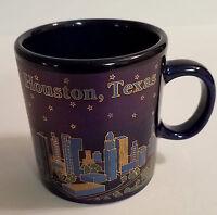 Houston, Texas Skyline, Dark Blue 5oz mini-mug, Collectible City Souvenir Cup