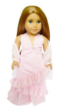 "Doll Clothes AG 18"" Dress Pink Halter Top Wrap Made To Fit American Girl Dolls"