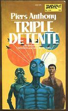 Triple Detente by Piers Anthony-Vintage DAW Paperback Original-1974