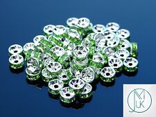Rondelle Rhinestone Spacer Beads Best Grade Choose Color and Size