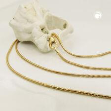 1,2 mm Schlangenkette 585er echt Gold 14 Karat 50 cm Halskette Gelbgold neu