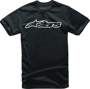 Alpinestars Men's Blaze Tee T-Shirt (Black/White) S