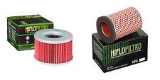 HIFLO FILTRO Oil and Air Filter Kit for HONDA CB450 SG 44 PS - PC17 86-88