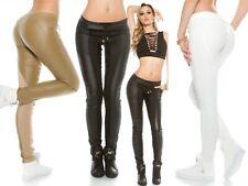 Pantaloni donna ecopelle pantalone effetto pelle fuseaux aderenti tessuto sexy