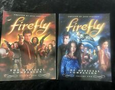 Firefly Official Companion Volumes One Two Paperback Bundle Joss Whedon Serenity