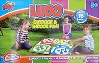 Giant Ludo Garden Game Outdoor or Indoor Fun, - Age 5+