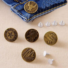 10 No Sew Mixed Style Replacement Metal Studs Jean Pants Buttons 20mm.