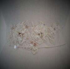 BRIDAL BELT SASH PEARL VINTAGE WEDDING DRESS GOWN RIBBON UNIQUE FASHION WOMEN