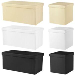 Faltbare Aufbewahrungsbox verschiedene Größen + Farben Sitzbank Truhe Hocker