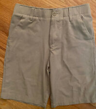 Under Armour Youth Tan Khaki Flat Front Golf Shorts with pockets Size Large