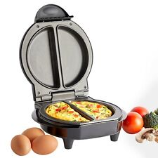 VonShef Omelette Maker Electric Multi Cooker Non Stick Dual Egg Fryer Pan 700W