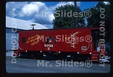 Original Slide Willamette & Pacific Bay Window Caboose 2 Albany OR 1995