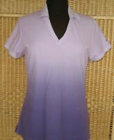 SLAZENGER M WOMENS TOP ATHLETIC SHORT SLEEVE PURPLE LAVENDER PIMA COTTON SPORTS