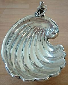 Traumhafte Konfekt-Schale in Muschel-Form, Silber               (Art.5324)