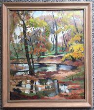 Tunis Ponsen (1891-1968) Autumn Pond Oil on Canvas