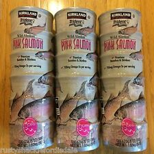 18 Cans Kirkland Wild Alaskan Pink Salmon Skinless Boneless Canned - 6 oz Each