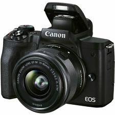 Canon EOS M50 Mark II Camera Kit w/EF-M 15-45mm f/3.5-6.3 IS STM Zoom Lens Black