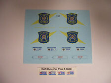 Michigan State Police 1:43 Water Slide Decals Fits Explorer, Taurus, Crown Vic