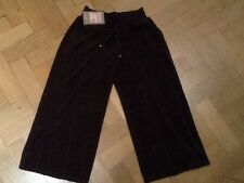 NWT Juicy Couture & Gen. Signore Piccole Marrone Crop Leg Pantaloni Di Cotone