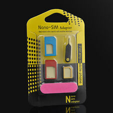 For iPhone Useful Nano SIM Card to Micro Standard Adapter Adaptor Converter Set