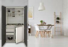 Cucina Armadio Mini Cucinino Singolo Blocco Bianco Grigio Respekta