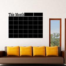 Planificador mensual calendario pizarra extraíble Pared Adhesivo Calcomanía De Placa De Tiza
