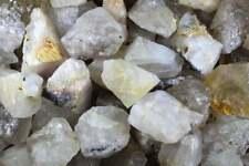 3 Lb Rutilated Quartz Rough Rocks - Rock Tumbling-Crystal Collection-Bulk Rocks