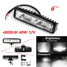 Universal 48W 16 LED Work Light Flood Beam Bar Car SUV OffRoad Driving Fog Lamps