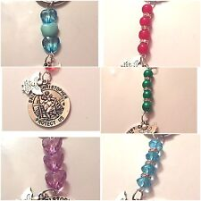 St Christopher & Guardian Angel Keyring bag lucky charm talisman bereavement