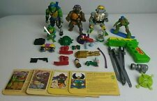 Toy Junk Drawer Lot Vintage Teenage Mutant Ninja Turtles TMNT Figures Weapons