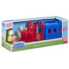 Peppa Pig Miss Rabbit's Train & Carriage NEW