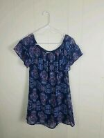 Speechless Womens Blue Floral Dress Size Medium
