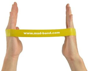 x1 Yellow Light MSD MoVeS  Resistance Band Loop Exercise Strength Training