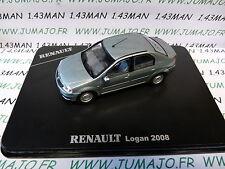 voiture 1/43 NOREV : Renault LOGAN gris bleu 2008